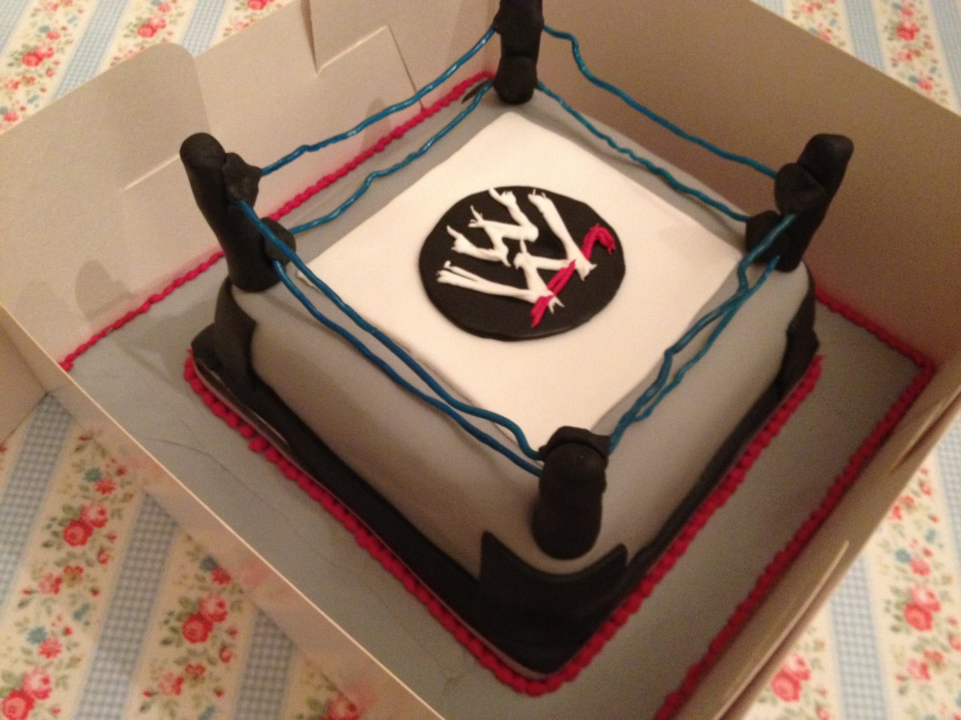 Remarkable Wwe Wrestling Ring Birthday Cake Make Bake Sew Funny Birthday Cards Online Alyptdamsfinfo